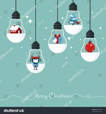 Stylish Design Modern Christmas Card Flat Stylish Design Stock Vector 228970525
