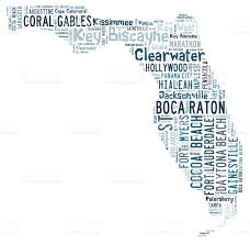word cloud showing cities in florida stock photo 480755350 istock