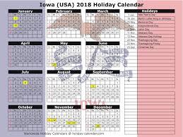 iowa usa 2018 2019 calendar