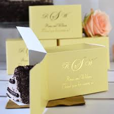 favor boxes for wedding 5 x 3 custom printed cake slice favor boxes set of 50