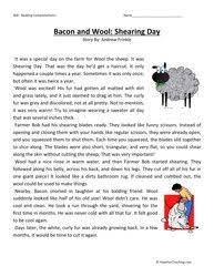 third grade reading comprehension worksheet my first movie