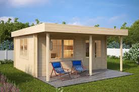 Haus Und Garten Ideen Holz Gartenhaus Mit Vordach Ian C 18m 50mm 4x5 Haus Und