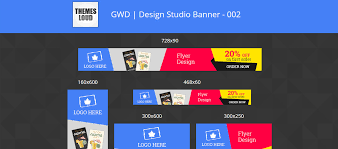 design templates print simple fashion ad banner 22 html5 ad templates you can use for google ads