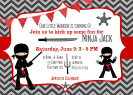 Invitation Card 7th Birthday Boy Ninja Warrior Birthday Party Invitation By Asyouwishcreations4u
