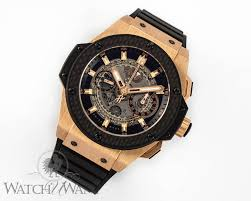 big king gold carbon sold listing hublot big king power unico fly back
