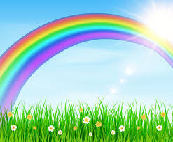 beautiful spring beautiful spring rainbow background vector art graphics