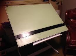 Drafting Tables With Parallel Bar Drafting Table With Parallel Bar Straight Edge Vyco Cover And