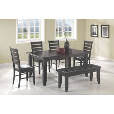 Gray Leather Dining Room Chairs Bench Dining Table And Chairs With Bench Awesome White Dining