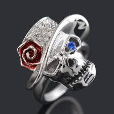 mens rings skull images Buy punk men 39 s skull rings high quality plated jpg