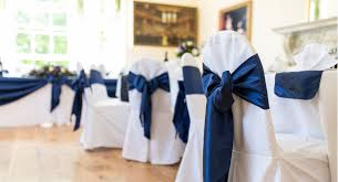 chair ribbons excellent chair covers bliss venue styling within navy chair