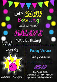 wonderful kids bowling party invitation template free as