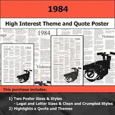 themes about 1984 1984 visual theme and quote poster for bulletin boards by s j brull