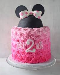 Red Minnie Mouse Cake Decorations Pink Ombre Minnie Mouse Cake Rose Bakes