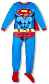 superman fleece footed pajamas with cape boys size m