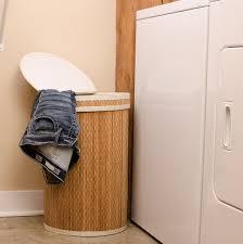 Round Laundry Hamper by Clein Wood Round Laundry Hamper With Lid U2013 Dwellbee