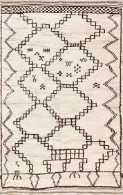 Moroccan Rugs Cheap Vintage Ivory And Brown Moroccan Rug 47953 By Nazmiyal