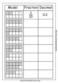 model u2013 fraction u2013 decimal u2013 2 worksheets math pinterest