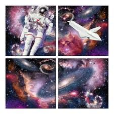 wall mural home decor painting starry night sky canvas wall art wall mural home decor painting starry night sky canvas wall art milky way with astronauts travel space picture poster artwork in painting calligraphy from