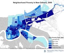 Map Of New Orleans Area by Concentrated Poverty In New Orleans 10 Years After Katrina