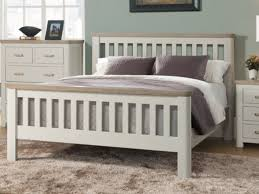 annaghmore treviso painted oak single bed frame solid cream oak