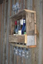 hand made rustic reclaimed barn wood wine rack wall mount 4 5