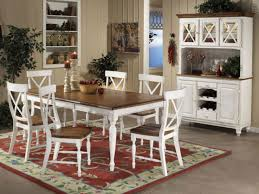 White Kitchen Furniture Sets Wooden Dining Table With White Chairs White Wood Round Dining