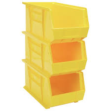 stackable open front storage boxes