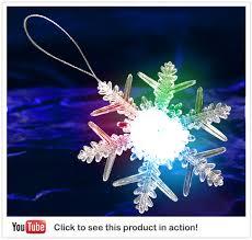 led snowflake ornament light up snowflake snow decoration