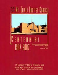 centennial celebration souvenir booklet commemorative publications mt olivet baptist church s