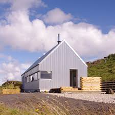 the tinhouse by rural design is a self built home on a scottish isle