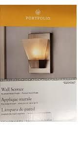Portfolio Wall Sconce Portfolio 5 52 In W 1 Light Brushed Nickel Pocket Hardwired Wall