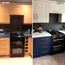 painting kitchen cabinets frenchic get a new look kitchen for just 400 like this savvy homeowner