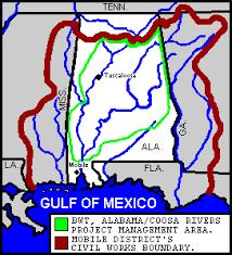 tombigbee waterway map mobile district missions civil works navigation black