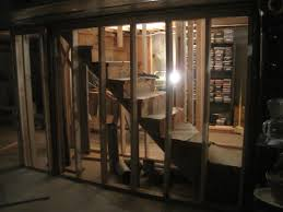 basement level wall framing for new basement stairs home