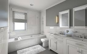 black and white tile bathroom bathrooms benjamin moore grey mist