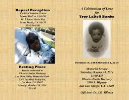 program for memorial service troy s memorial service program oct 2014