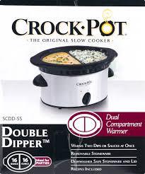 best crockpot deals black friday crock pot double dipper slow cooker stainless steel walmart com