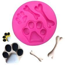free shipping diy dog foot bones chocolate party decoration