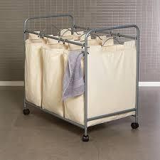 divided laundry hamper laundry room baskets wicker laundry hamper