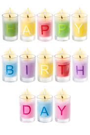 happy birthday candles happy birthday candles set of 13 individual letter candles