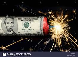 new year dollar bill symbol picture national debt of the usa a firecracker with 5