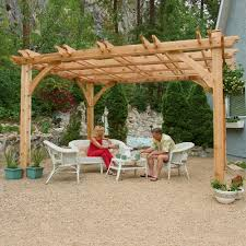 pergola design ideas pergola kit lowes 10ft x 12ft cedar breeze