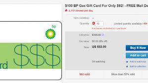 gas gift card ebay 100 bp gift card for 92 doctor of credit