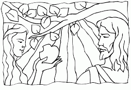 adam and eve coloring pages coloring home