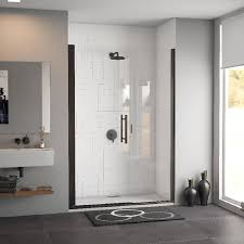 48 Shower Doors Shop Coastal Shower Doors 48 In To 48 In Frameless Rubbed