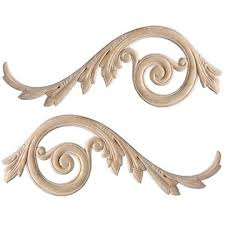 appliques embossed and carved wood appliques in oak maple