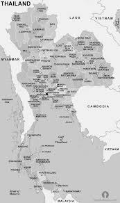 World Map Thailand by Thailand Provinces Map Black And White Black And White Provinces
