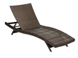 Folding Chaise Lounge Chair Havana Aluminum U0026 Woven Resin Wicker Contour Folding Chaise Lounge