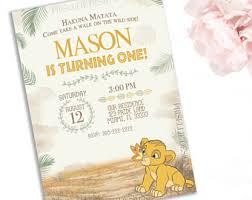 lion king invitation etsy