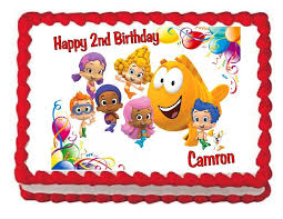 guppie cake toppers guppies party image edible cake topper design